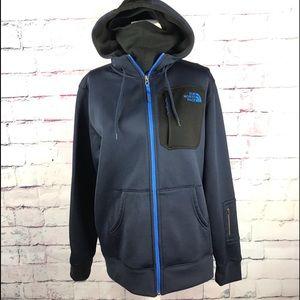 THE NORTH FACE Men's Blue Zip Up Hoodie Jacket